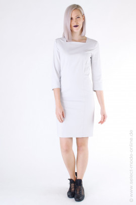 Stretch dress - wool white