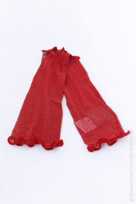 Silk cuffs - red