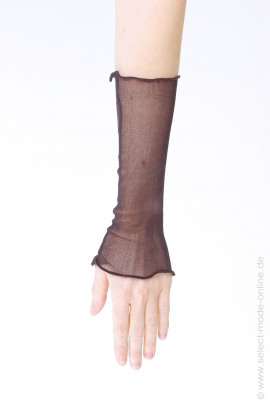 Silk cuffs - brown