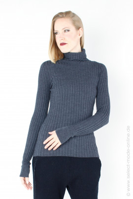 Knitted pullover - grey