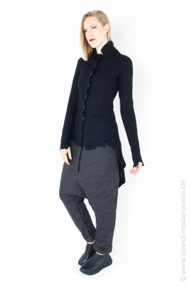Knitted jacket - black