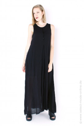 Very long summer dress - black