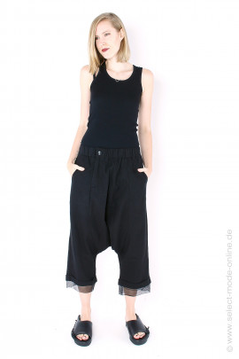 Pants with tulle hem - black