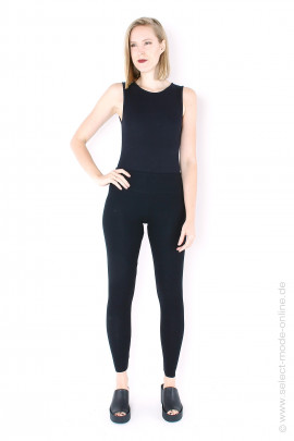 7/8 jersey leggings - black