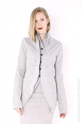 stretch blazer jacket - zinc