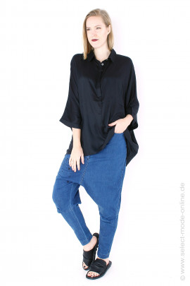 Light oversize blouse - black
