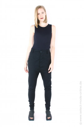 Casual stretch pants - black