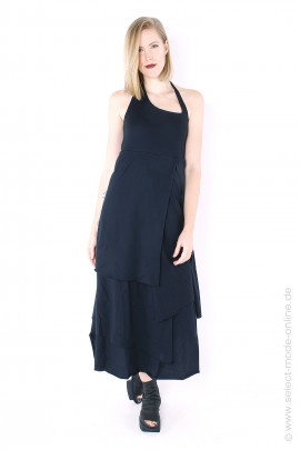Multilayered jersey dress - black