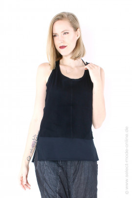 Multilayered jersey top - black