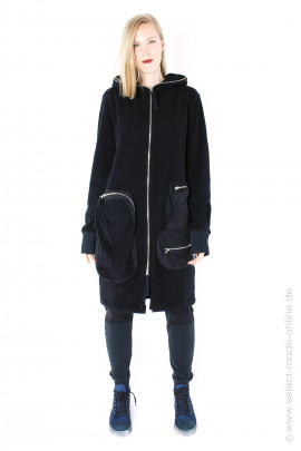 Cozy oversize coat - black