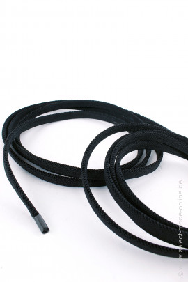 Elastic shoelace - 6mm - black