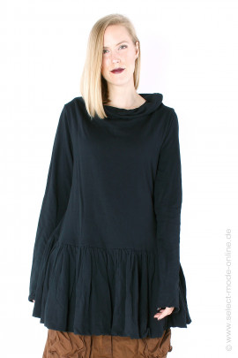 Sweatpullover with ruffles  - black
