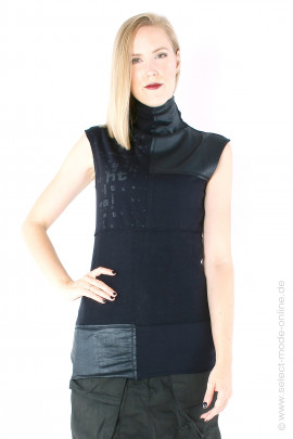 Patchwork top - black
