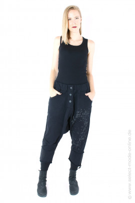 Sweat pants with print - black