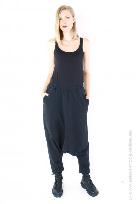 Sweat harem pants - black
