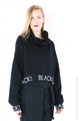 Short sweat pullover - black