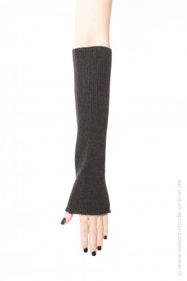 Long nitted cuffs - brown