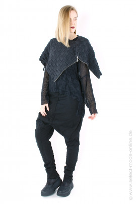 Extravagant knit cape - anthra