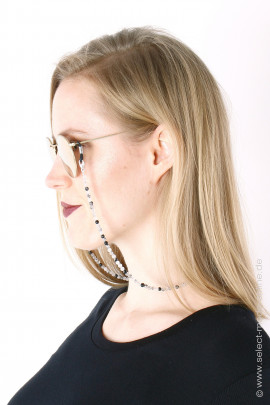 Glasses & mask chain - tourmaline quartz