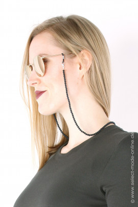 Glasses chain& Necklace - Onyx frosted