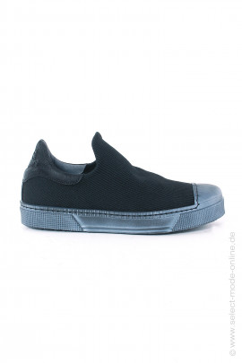 Sneaker in material mix - black