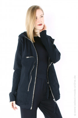 Stretch jacket with pockets - black