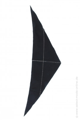 Jersey triangular scarf - black
