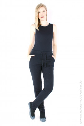 Narrow sweat pants - black