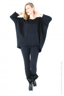 Oversize sweat pullover - black