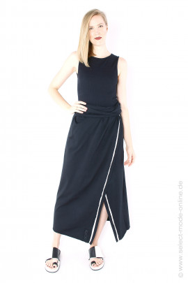 Jersey wrap skirt - black