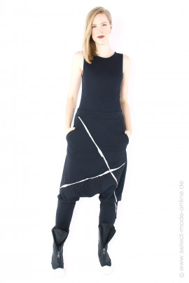 Jersey low crotch pants - black