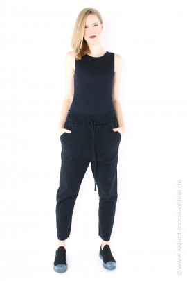 7/8 stretch pants - black
