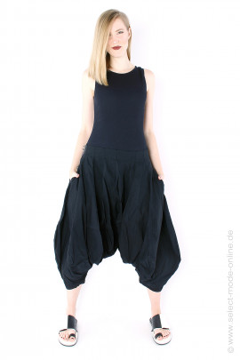 Stretch harem pants - black