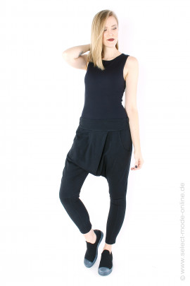Low crotch pants - black