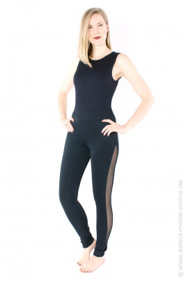 Leggings with tulle - black