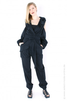 Jumpsuit with removable sleeves