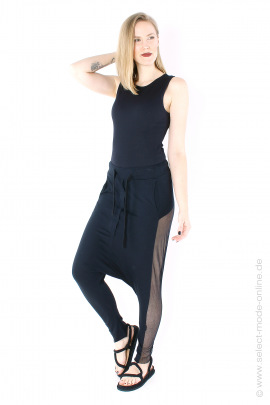 Pants with tulle - black