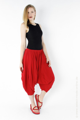 Voluminous jersey pants - red