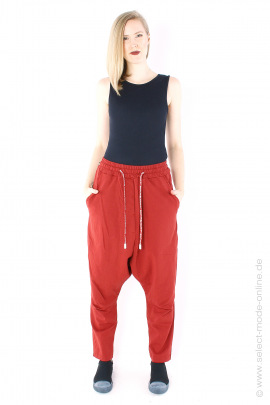 Low crotch sweat pants - berry
