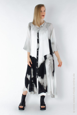 Blouse-dress with print - clouds