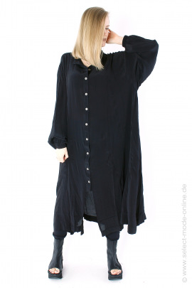 Langes Blusen-Kleid - black