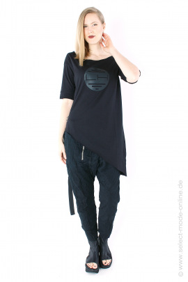 Asymmetrical tunic - black