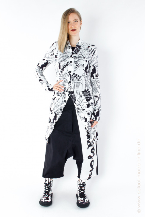 Georgette coat with allover Print
