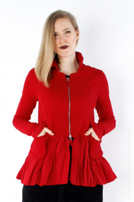 Jacket in material mix - red