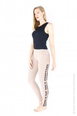 Leggings with tulle - beige