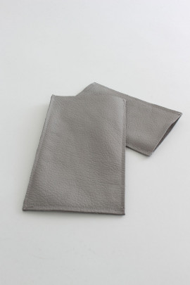 Suede phone case - grey